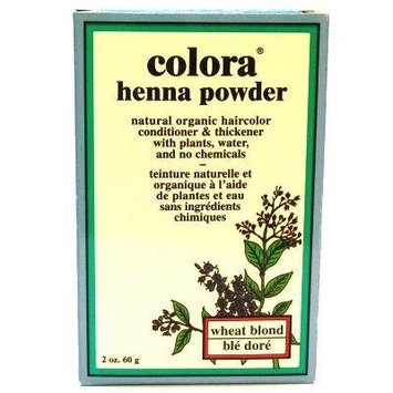 Colora Henna Veg-Hair Wheat Blonde 2 oz. (3-Pack) with Free Nail File