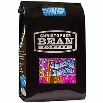 Christopher Bean Coffee Flavored Whole Bean Coffee, Jazzy Java, 12 Ounce