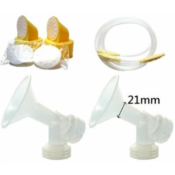 Breast Pump Kit (Breastshield Small, 21mm) for Medela Lactina and Symphony Breastpumps. Include 2 One-Piece Breastshields (Replace Medela Personalfit 21mm and Personalfit Connector. 21mm of 4 available sizes, 21mm, 24mm, 27mm, and 30mm), 2 Lactina...