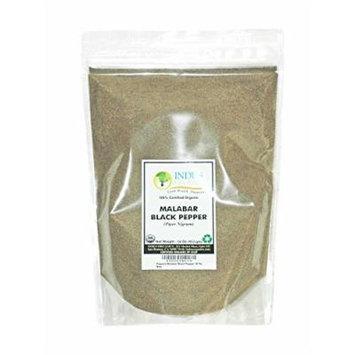 Indus Organic Malabar Black Pepper Powder (Dust, Fine Ground) 1 Lb Refill Pack, Premium Grade, High Purity, Freshly Packed...