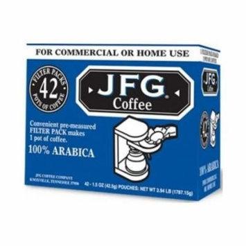 JFG Medium Roast Coffee Cafe Blend - Filter Pack, 1.5 Ounce -- 42 per case.