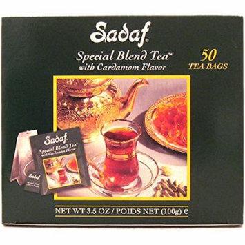 Tea Bag with Cardamom Flavor - Sadaf Special Blend Tea with Cardamom, 50-count (Pack of 1)