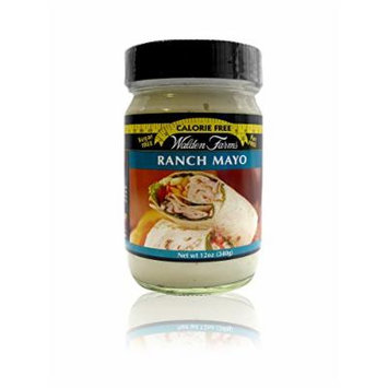 Walden Farms Ranch Mayo - Sugar Free, Calorie Free, Fat Free, Carb Free, Gluten Free - 1 Bottle