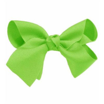 Lime Large Girl Bow Hair Clip