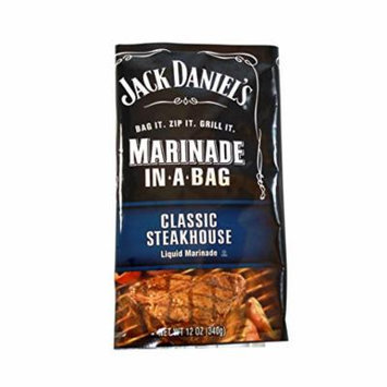 Jack Daniel's Ez Marinader 12oz Bag; Classic Steakhouse (Pack of 2)
