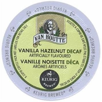 Van Houtte DECAF FLAVORED Coffee * HAZELNUT DECAF * Light Roast - includes 48 K-Cups for Keurig Brewers