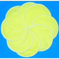 NuAngel Designer Washable Nursing Pads 100% Cotton - Sunshine Yellow - Made in U.S .A. - 8 pads