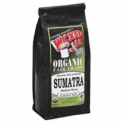 WICKED JOE COFFEE COFFEE BEAN WHOLE M ROAST, 12 OZ