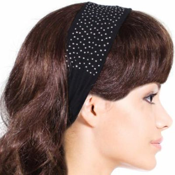 Simple Sparkling Rhinestone Stretch Headband - Black (1 Pc)