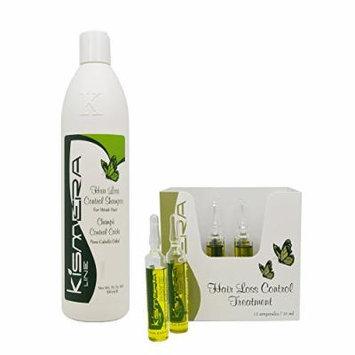 Kismera Line Hair Loss Control Shampoo 16.9oz & Treatment 12ampoules / 15ml each