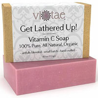 Certified Organic VITAMIN C Soap - by Vi-Tae® - 100% Pure, All Natural, Aromatherapy Herbal Bar Soap - 4oz