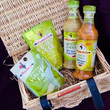 Nando's Lemon & Herb Peri-Peri Lovers Luxury Hamper -Lemon & Herb Sauce, Marinade, Coat 'N Cook & Seasoning Rub - By Moreton Gifts