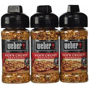 Weber Grill Seasoning Kickn Chicken, 2.5-Ounce (Pack of 6)