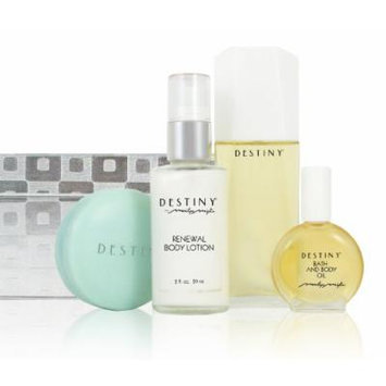 Destiny Silver Checkers Gift Collection (Includes Eau De Parfum + Scented Soap + Renewal Lotion + Bath and Body Oil)