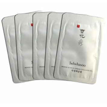 Sulwhasoo sulshasoo snowiest ex white ginseng exfoliating gel / Brightening Mask 5ml x 20pcs = 100ml total