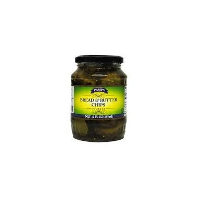 Pampa Pickles, Bread & Butter Chips, 12 oz (Pack of 12)