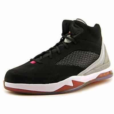 Jordan Men's Nike Air Jordan Flight Remix Basketball Shoes-Black/Gray/Pink-8