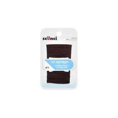 Scunci: Brown Hair Bands, 34 Ct, Sold in Packs of 3