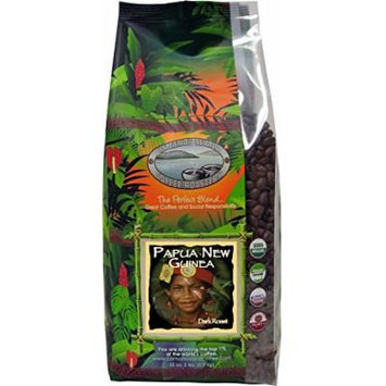 Camano Island Coffee Roasters, Organic Papua New Guinea Light Roast, Whole Bean, 2 Lb