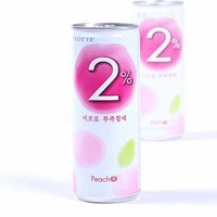 Lotte 2% Peach 240ml 6-pack X 2 ( Total 12 Cans)