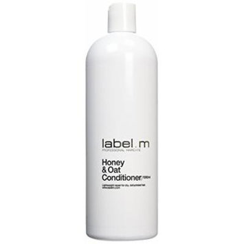 Label.m Honey and Oat Conditioner for Dry, Dehydrated Hair 33.8 Oz (1000 ml).
