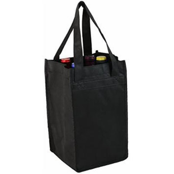 Black Non-Woven Four-bottle Wine Bag