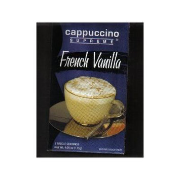Cappuccino Supreme French Vanilla, Pack of 5 Pouches