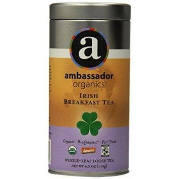 Ambassador Organics Biodynamic Irish Breakfast Tea, Whole-leaf Loose, 4.2 Ounce Tin