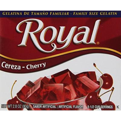 Royal Bilingual Gelatin, Cherry, 2.8-Ounce (Pack of 12)