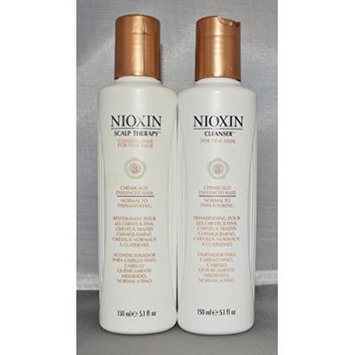 Nioxin Cleanser and Scalp Therapy System 3 For Fine Hair 5.1 oz each (2 pack)