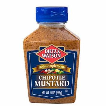 Dietz & Watson, Deli Compliments, Chipotle Mustard, 9oz Bottle (Pack of 2)