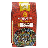 Christopher Bean Coffee Flavored Decaffeinated Ground Coffee, French Caramel Creme, 12 Ounce