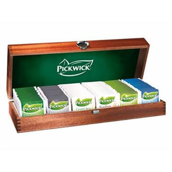 Pikwick Deluxe Wooden Teabox, Includes 120 Teabags