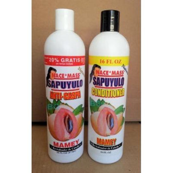 Nace+Mass Mamey Shampoo Conditioner Combo.. Sapuyulo Revitalizador De Cabello.. 16 oz Each (2 Pack) ... iwgl