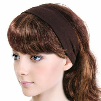 Simple Solid Color Stretch Headband - Brown (1 Pc)