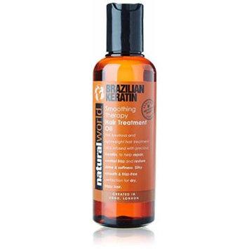 Organic World 100ml Brazilian Keratin Smoothing Therapy Hair Treatment Oil