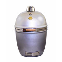 Grill Dome Infinity Series Ceramic Kamado Charcoal Smoker Grill, Silver, Large
