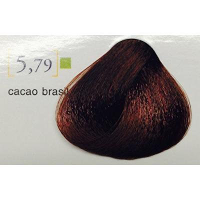 "Salerm Color Cream Coloring Treatment Without Ammonia (Semi-permanent) Soft 3.4 Oz ""Free Starry Sexy Lio 10 ml"" (5.79 Cacao Brasil)"