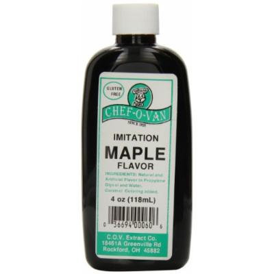 Chef-O-Van Natural Flavoring Extracts, Imitation Maple Flavor, 4 Ounce