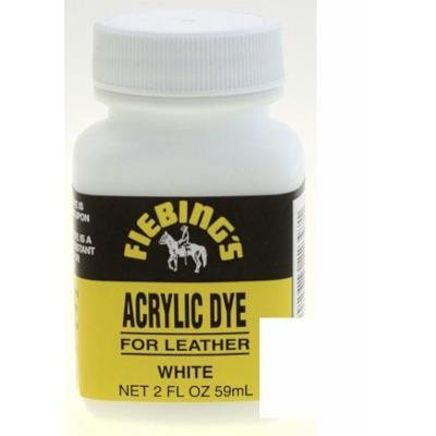 Fiebings Acrylic Dye For Smooth Leather Water Resistant Quick Dry White