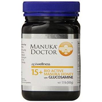 Manuka Doctor 15 Plus Honey with Glucosamine, 1.1 Pound