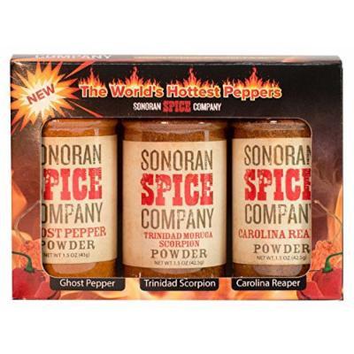 Sonoran Spice Carolina Reaper, Trinidad Scorpion, Ghost Pepper 1.5 Oz Powder Gift Box