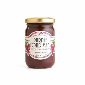 French Violet Mustard - Purple Condiment with Grapemust - 7oz - (Pack of 2)