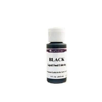 Lorann Oils Liquid Food Color, 1-Ounce, Black