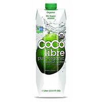 Coco Libre Organic Coconut Water 1 Liter. Pack of 4. (33.8 Fl Oz.) - Gluten Free.