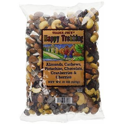 Trader Joe's Happy Trekking...Almonds, Cashews, Pistachios, Chocolate, Cranberries & Cherries...15 oz. bag...Low Sodium...No Gluten