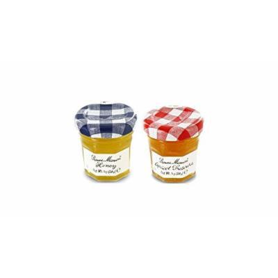 Bonne Maman Duo Mini Jars - 1 Oz X 30 Pcs (15 Apricot, 15 Honey)