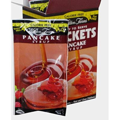 Walden Farms Ready To Serve Pancake Syrup Packets Maple -- 24 oz (2 BOXES)