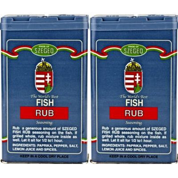 Szeged - Fish Rub / Gourmet Rub / 2 -5 Oz. Tins