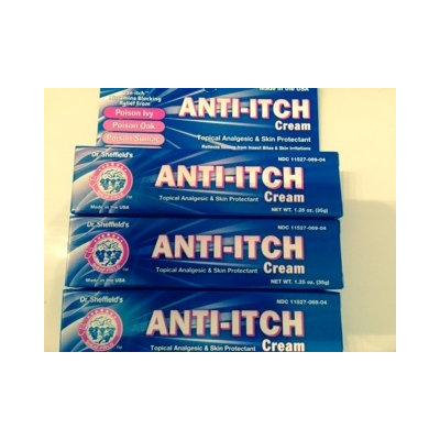 Dr. Sheffield's Anti-itch Cream with Histamine Blocker - 1.25 Oz. (Pack of 3)